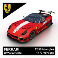 3d model 2012 ferrari 599xx evo