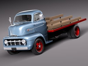 classic truck 1952 coe 3d model