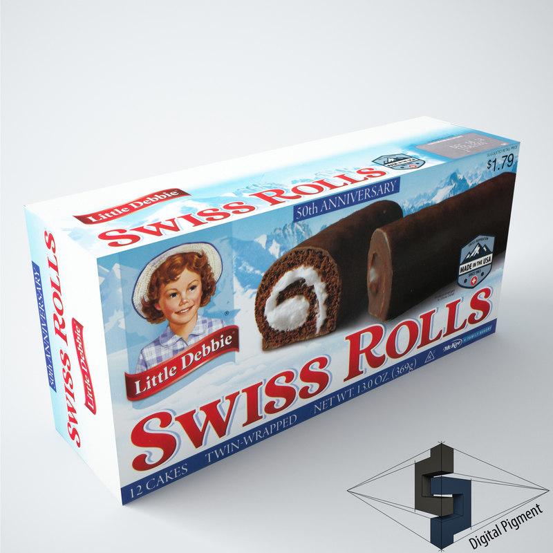 3d little debbie swiss rolls