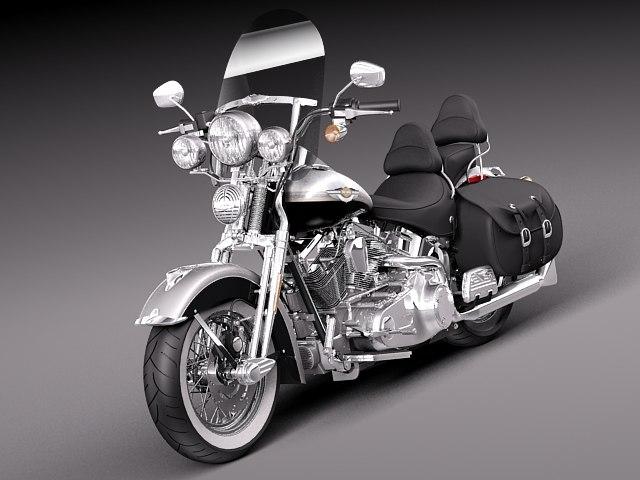 bike harley davidson heritage 3d model