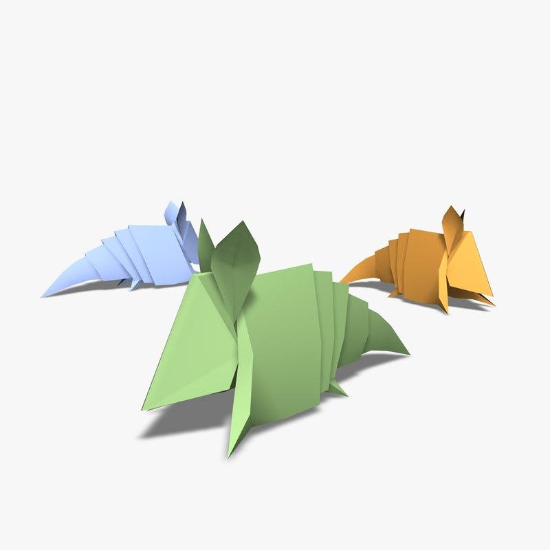 origami armadillos 3d 3ds