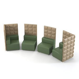 3d model kastel quadra chair