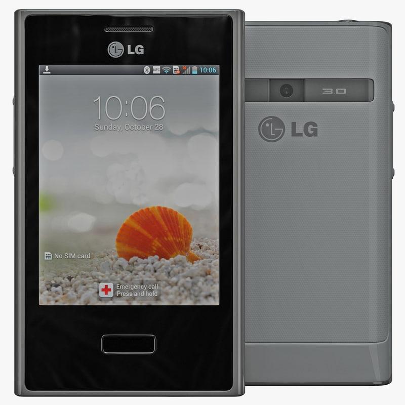 3d model lg optimus l3 e400