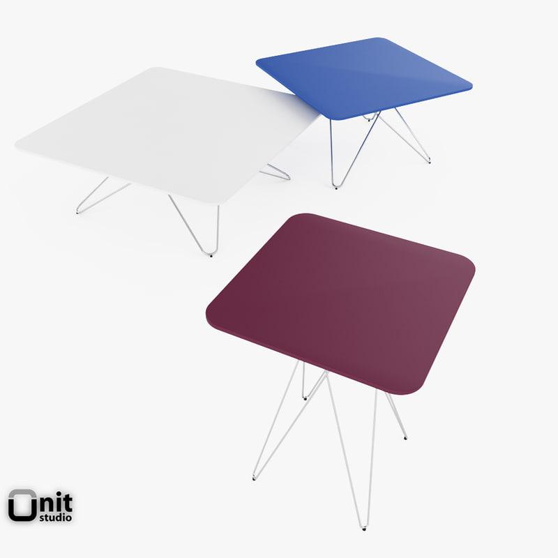 materials cimber tables leolux 3d model