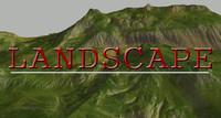 terrain realistic 3d model