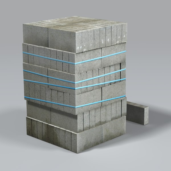 construction breezeblocks 3ds