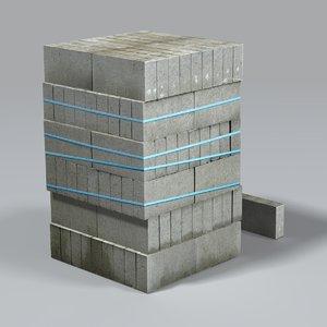 construction breezeblocks 3ds