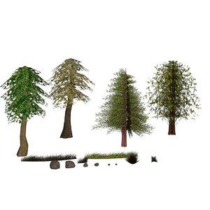 nature trees 3d model