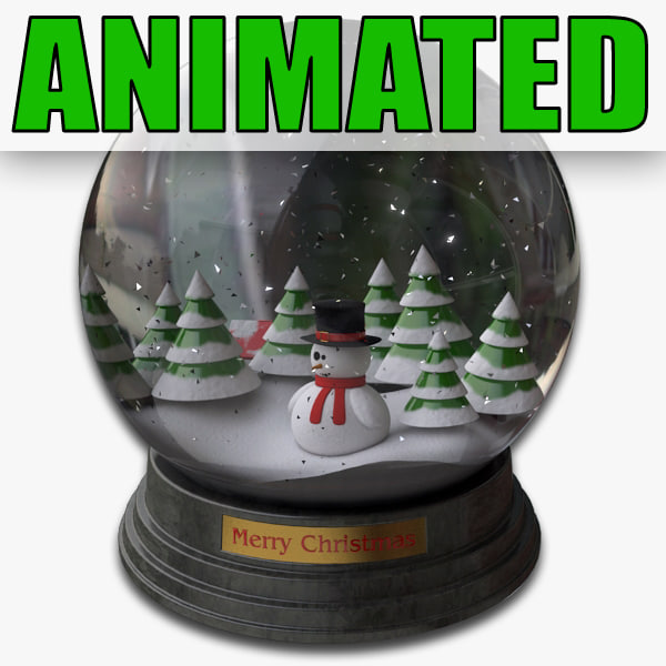 snowglobe particle animation snow 3d max