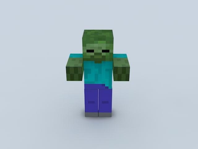 free max model minecraft zombie