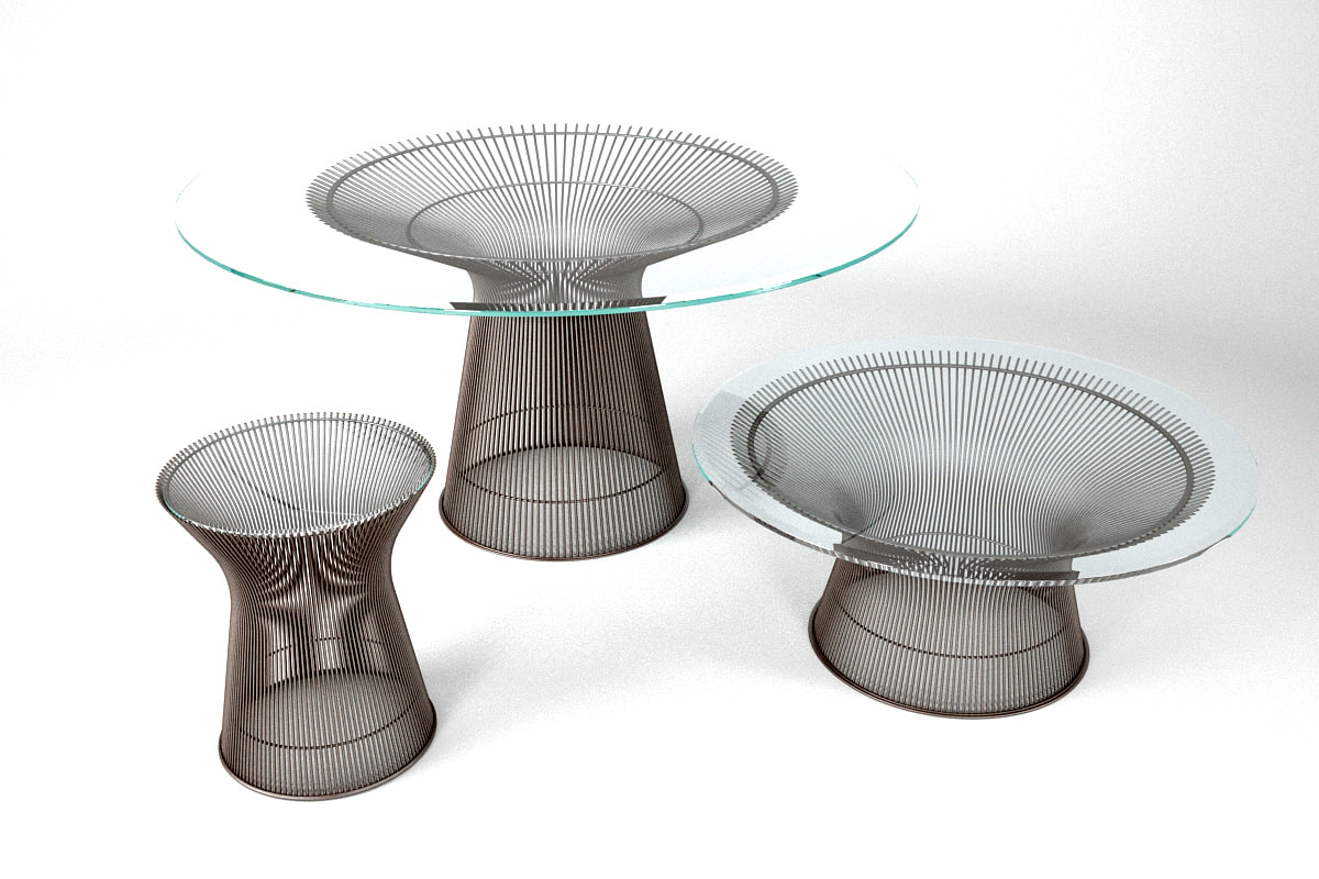 platner coffee table 3d max