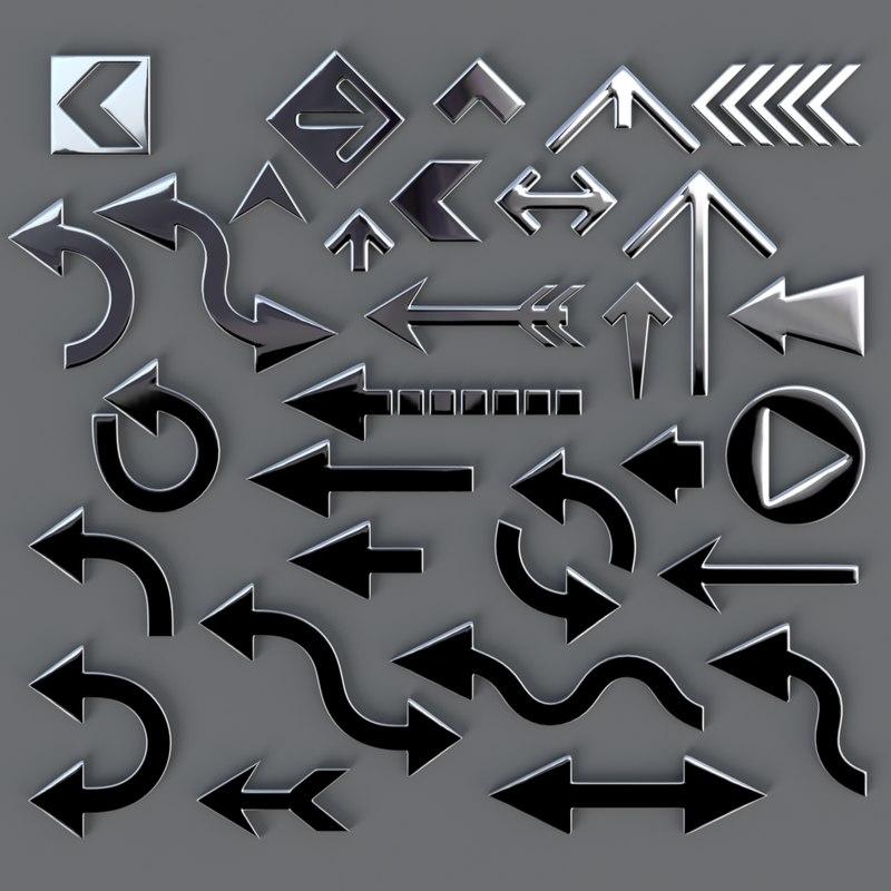 3D Arrow Collection 01