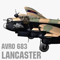 3d avro 683 lancaster