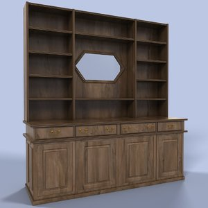 3ds max bar cupboard cup