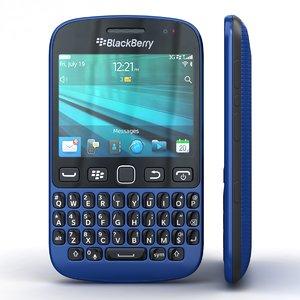 3d obj blackberry 9720 samoa blue