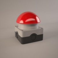 3d model alarm button