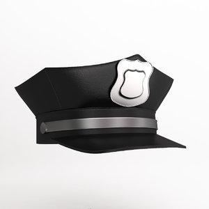 3dsmax police cap