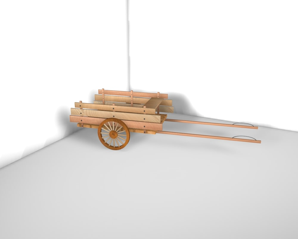 medieval cart 3d c4d