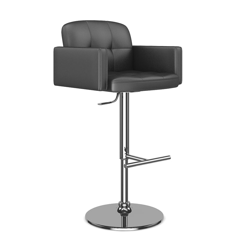 leather hocker chair