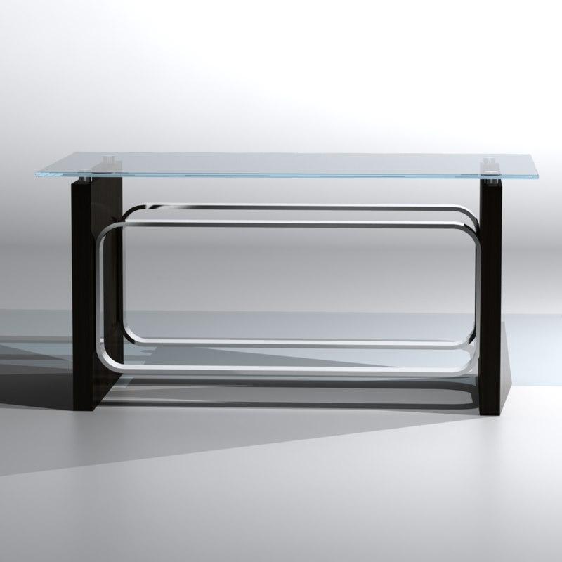 leg glass wooden 3d model