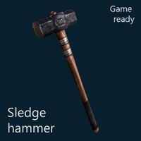 3d hammer sledgehammer sledge model