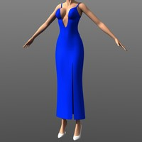 Clothing - Deep V Gown