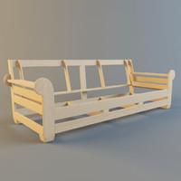 sofa frame 3d model