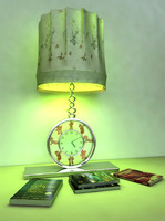 modern desk lamp clock 3d model