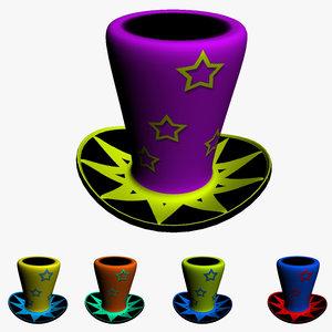 3d magician hat