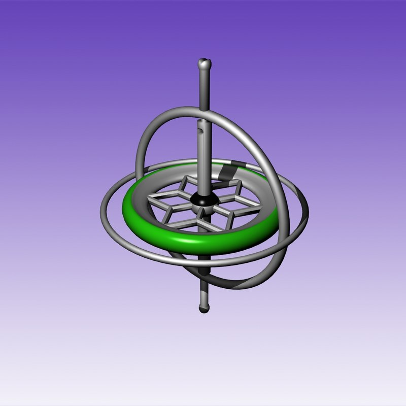 3d model gyroscope toy
