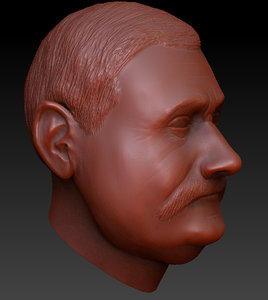 lech walesa head 3d 3ds