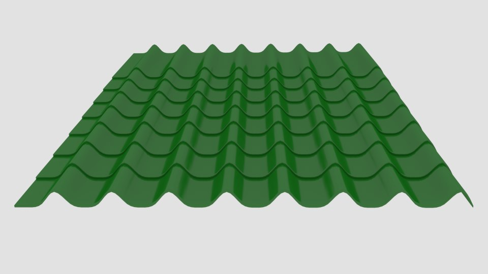 3d model of roofing