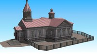 3d model of old wooden