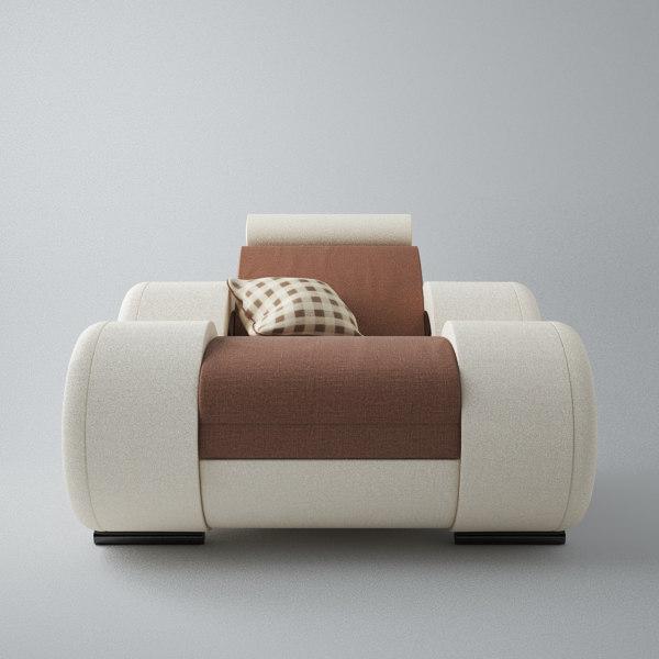 3ds max modern sofa 1x