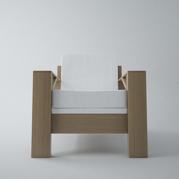 3d armchair carpenter model