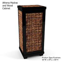 athena madras wood cabinet 3d max