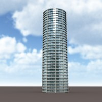 3d high-rise modelled model