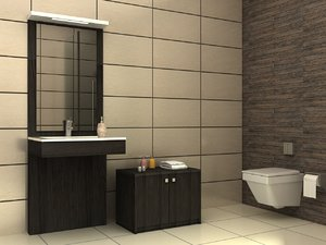 bathroom scene 2 3d model