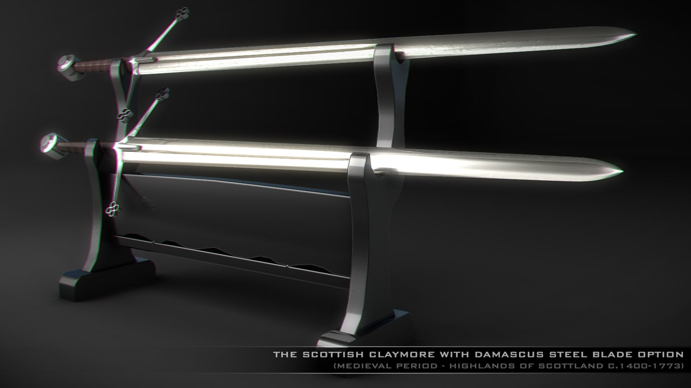 3d model of sword claymore -