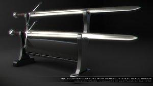 3d model of sword claymore -