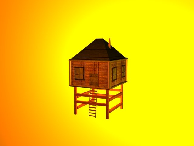 3dsmax tropical house