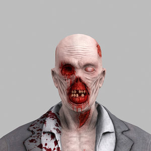 zombie undead man 3d model