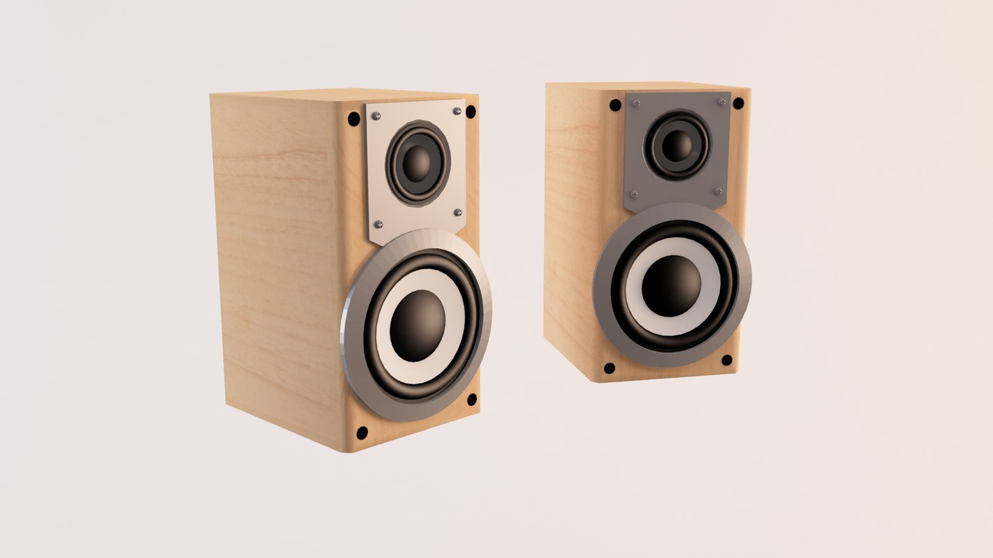 hi-fi speakers 3d 3ds