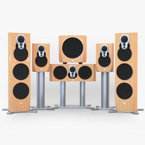 3d fbx loudspeakers klimax 350a