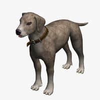 3d dog brown