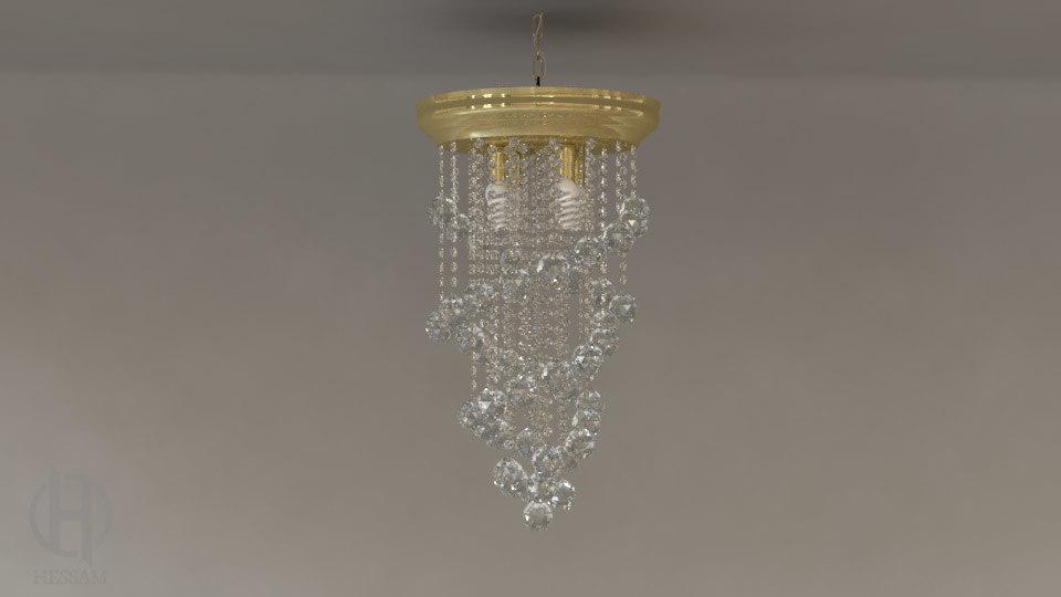 3d chandelier v4 0 lamp model