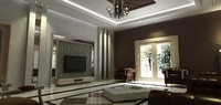 3d model scene lights furniture