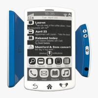 e-ink smartphone 3d model