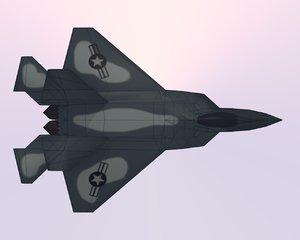 3d model of yf-22 lightning
