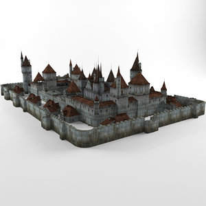 3ds max ancient castle